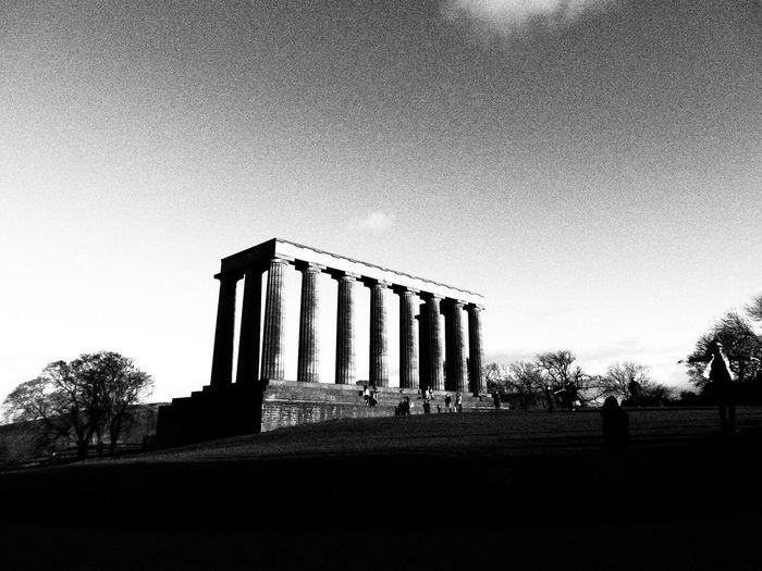 Edinburgh History Travel Architecture Tourism Blackandwhite Photo Camera