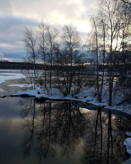 Great view 😊😊 From Finland Mänttä Reflection 😉😉