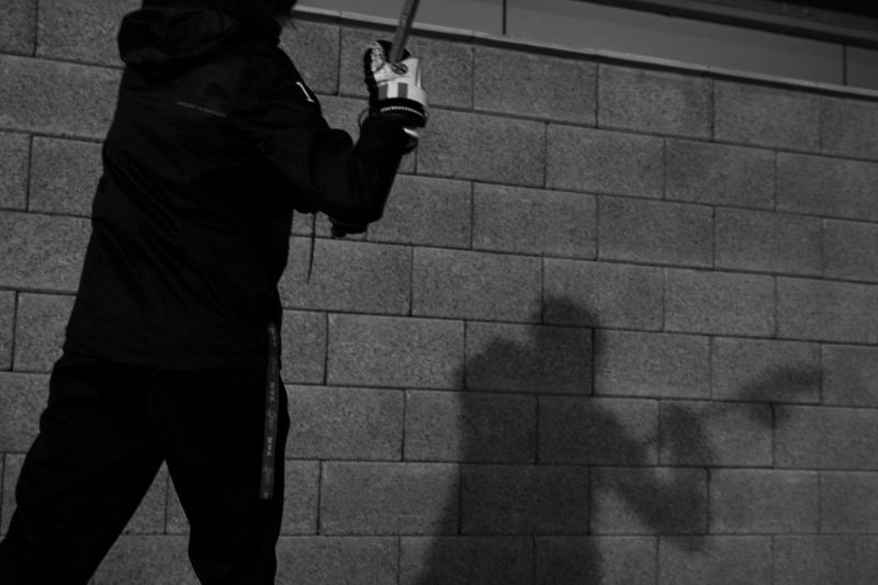 Sport In The City Lacrosse Vienna Austria Practicing Wallballs Nevergiveup PracticeMakesPerfect Blackandwhite Night Photography