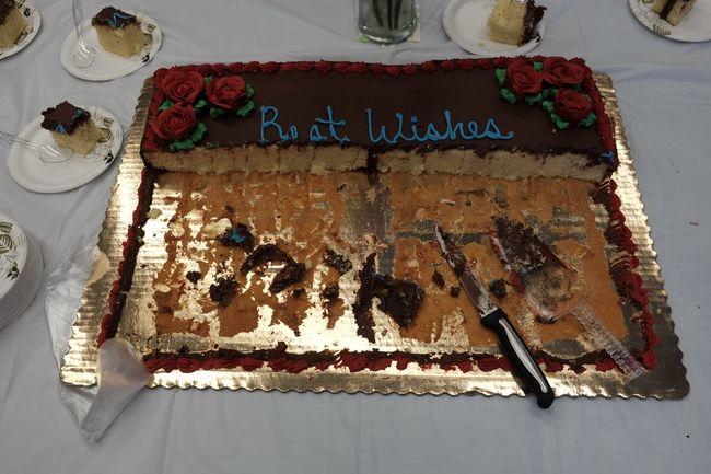 Best wishes. Retirement Party Cake Congratulations Happy Chocolate Fujifilm X-E2