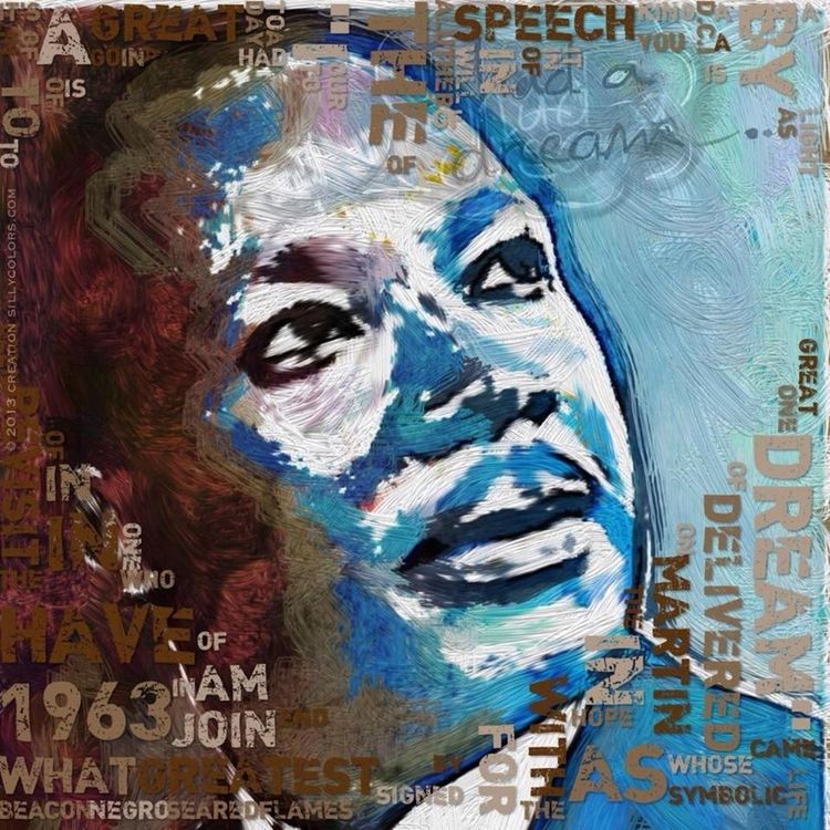 "poster inspired by Martin Luther King's speech ""I had a dream"" Sillycolors Digital Art Martinlutherking Famous Speech Ihadadream Typography"