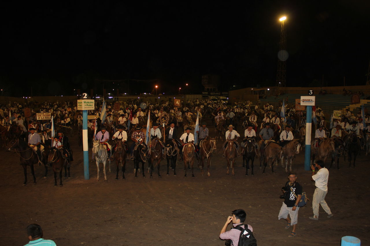 large group of people, night, real people, men, leisure activity, game, outdoors, crowd, women, audience, adult, people