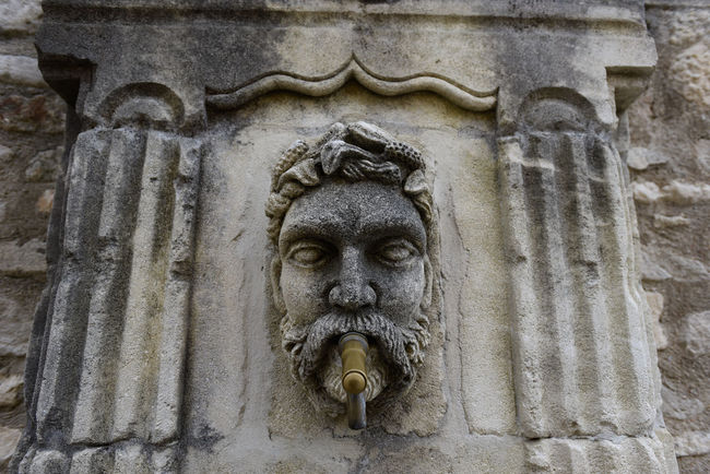 Drinking water fountain Ancient Architectural Feature Art Art And Craft Creativity Drinking Drinking Water Drinking Water Fountain Fountain History Human Representation Old Ornate Stone Stone Material The Past Vintage Wall