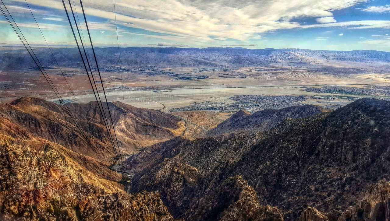 Nature Day No People Full Frame Sky Scenics Water Beauty In Nature Outdoors Backgrounds Mountain Cloud - Sky Landscape Sea Close-up Tramway Nature Tranquil Scene Travel Destinations California USA Palm Springs Tram View Elevated View