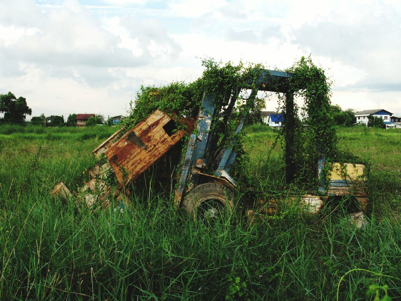 Bulldozer was Deserted in the Field for A Long Time Ago // Abandoned Rusty Outdoor