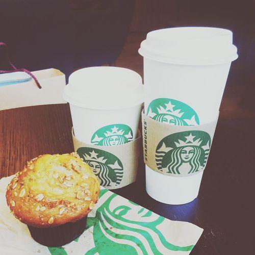 having my Starbucks Coffee Muffin . trying new pistachio & rose mocha First Eyeem Photo