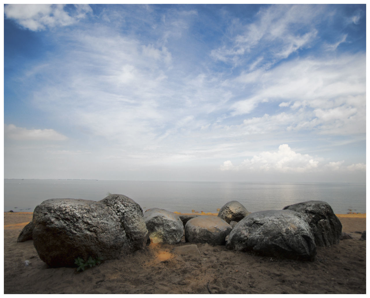 Archival Beach Beauty In Nature Cloud - Sky Day Gulf Of Finland Horizon Horizon Over Water Idyllic Landscape Nature No People Outdoors Peterhof Saint Petersburg Scenics Sea Sky Tranquil Scene Tranquility Water