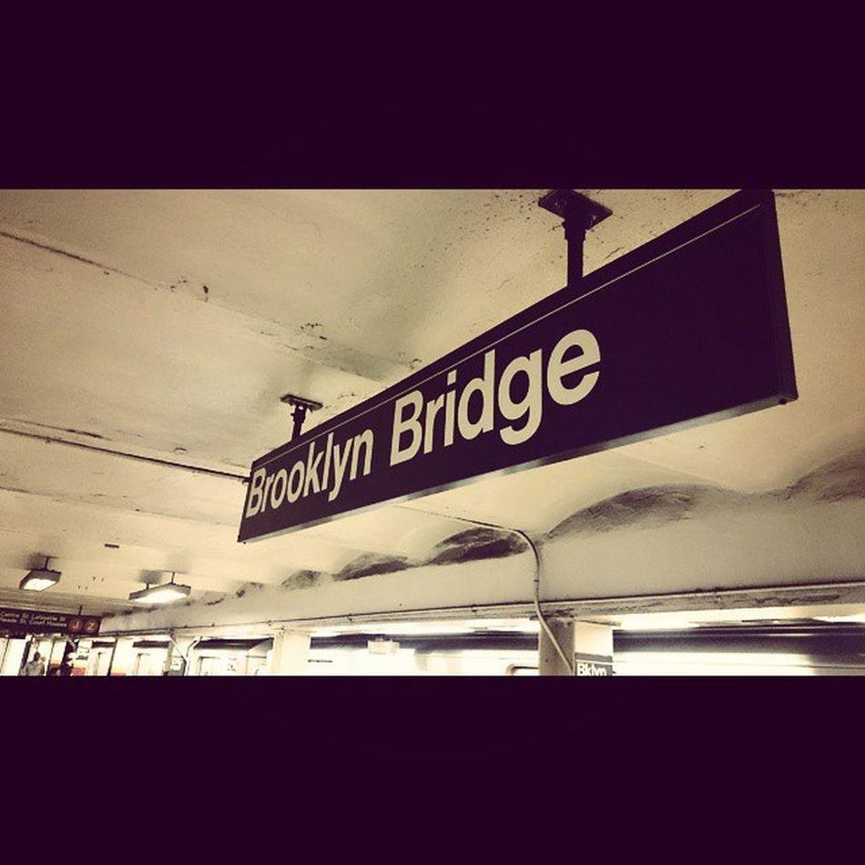 Subway Nycsubway Nycmetro Brooklynbridge Newyork