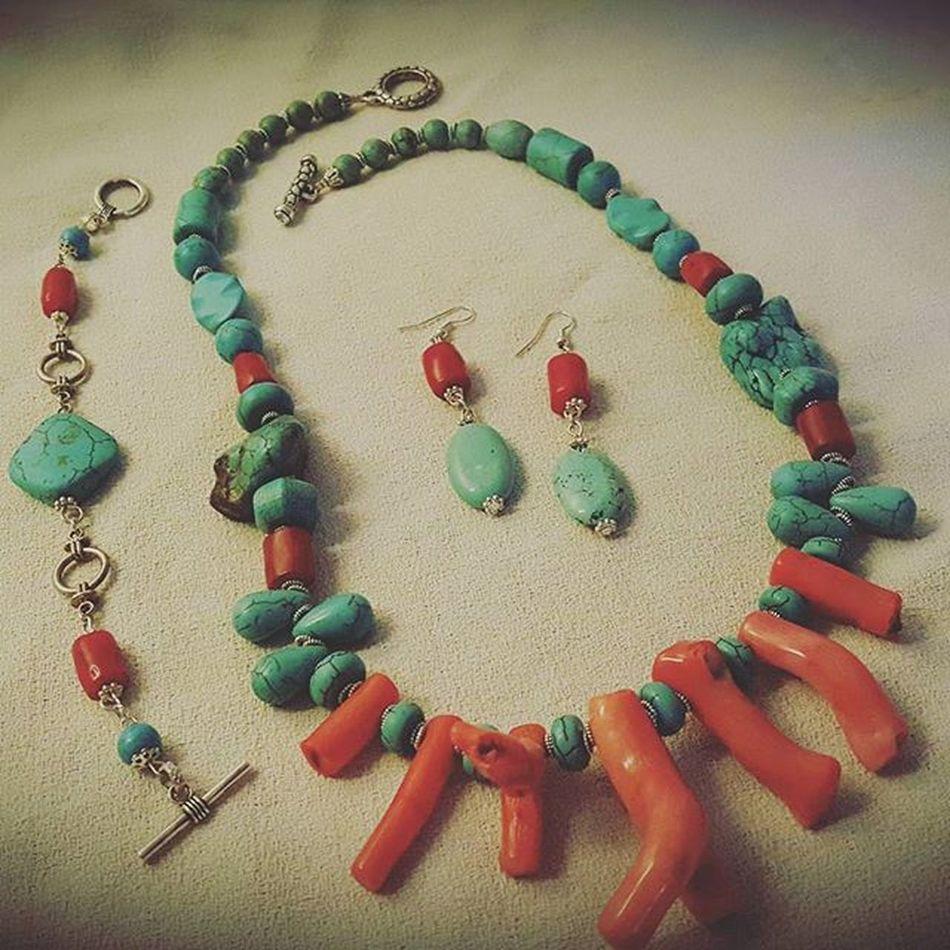 Summer jewelry! 👙🏊🌊🌴🍦🍺🏄🌞🍉 Summerjewelry Setjewelry Setbigiotteria Earringshomemade Necklacehomemade Bracelethomemade Orecchinifattiamano Collanafaidate Braccialefattoamano Hobby Bigiotteriaartigianale Bigiotteria Coral Corallo Turquoisestone Turquoise Turchese Pietraturchese