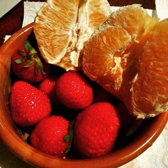 Buonappetitoame Frutta Fragole Arancia Happiness Fruttabuona Cibobuono 🍊🍓