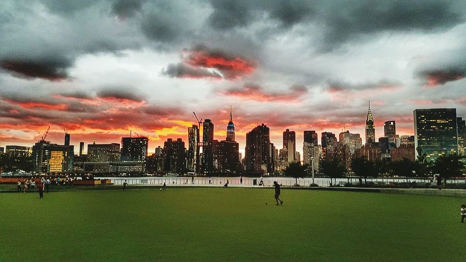 New York City Photos Sunset Silhouettes NYCImpressions New York Nycarchitecture New York Skyline  Sunset_collection Sunset And Clouds  Nycsunset  Empire State Building NYC Skyline NYCNights