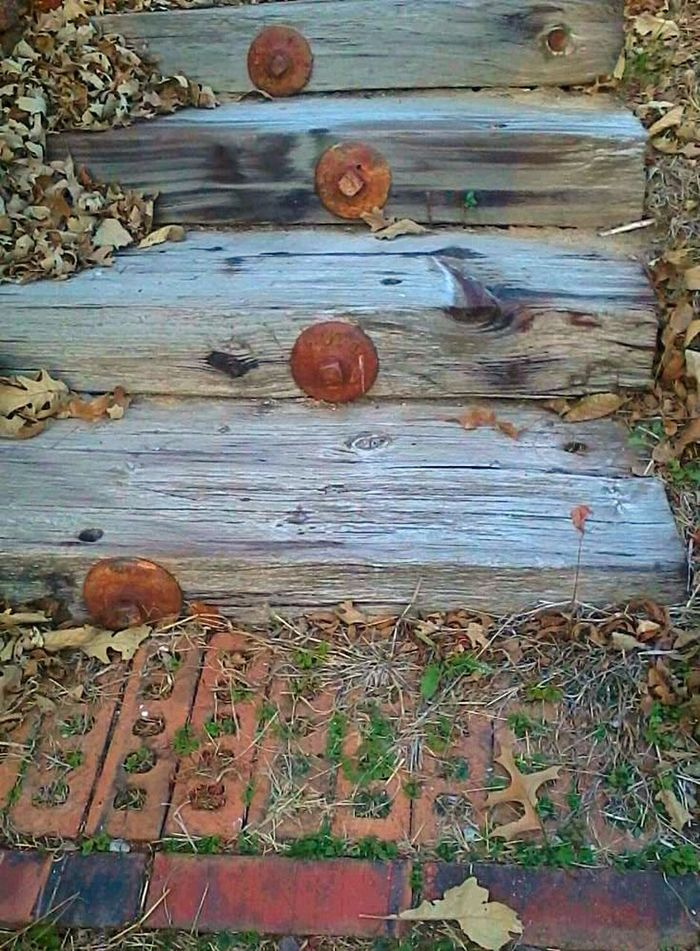 Thepuristnofilternoedit Railroadties Staircase Rustic Inventive Outside Whereigrewup
