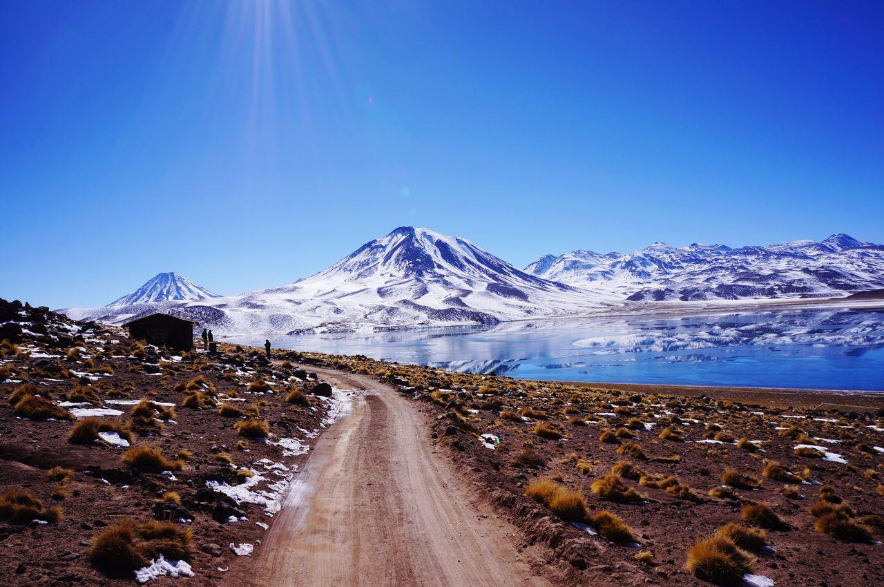 Road Desert Desert And Snow Atacama Desert