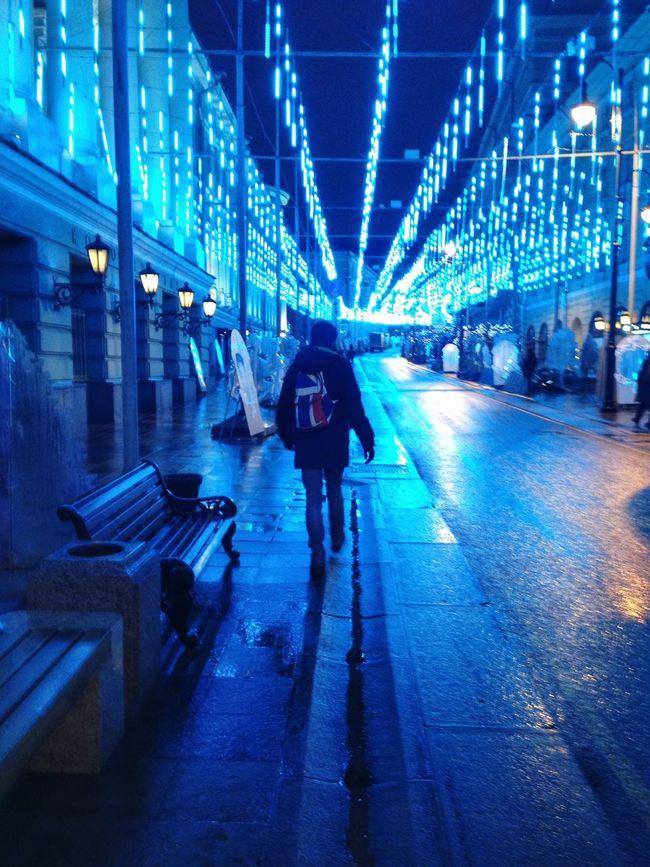 Moscow NewYear Christmas Lights Christmas Christmastime City Walking
