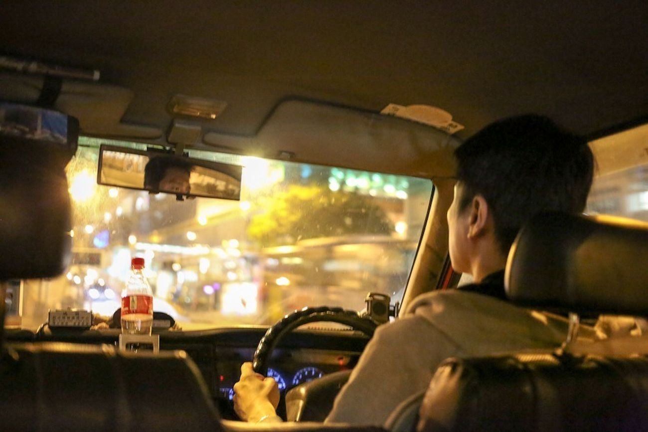 On The Road Late Night Taxi Ride