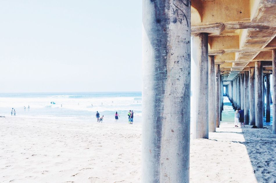 Beautiful stock photos of outdoors, Beach, Bridge, Bright, Clear Sky