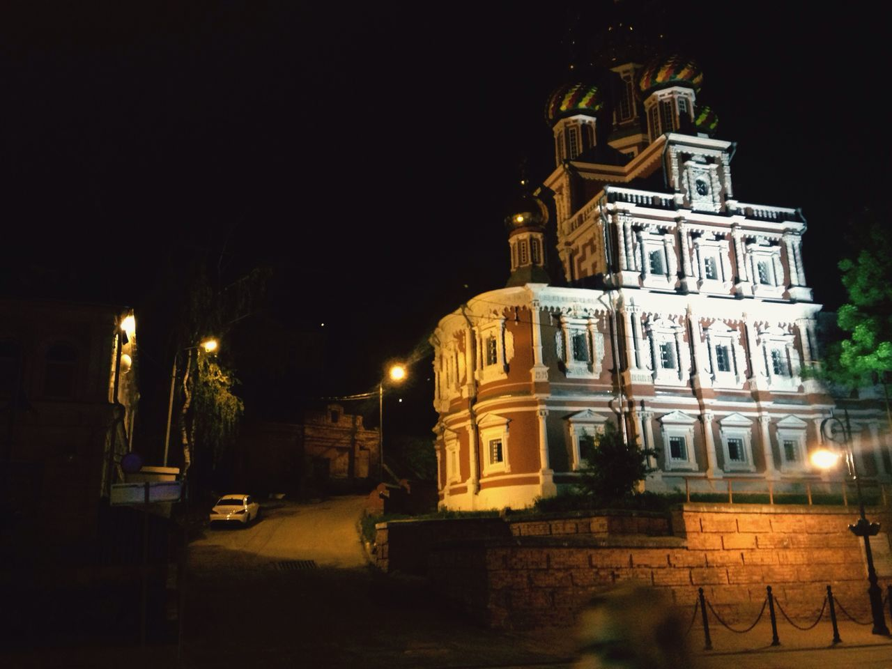 Novgorod Architecture Building Exterior Built Structure Night Illuminated Dark Outdoors Sky History Façade No People