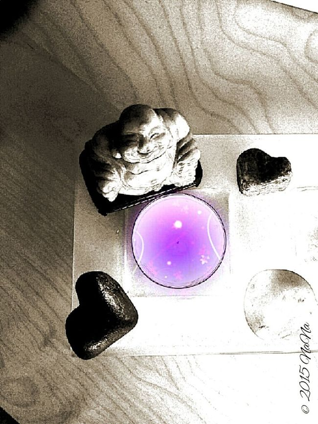 Taking Photos Not My Season Buddah B/w Color Candle Effect