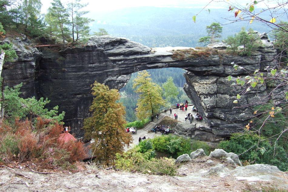 Pravčická brána - Prebischtor Green Heritage Site Mountain Nature Pravčická Brána Prebischtor Rock Rock - Object Rocky Rocky Mountains Stone