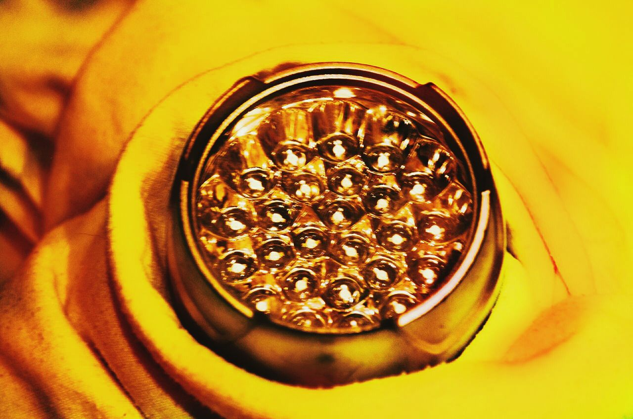 Lantern as honeycomb ^^Gold Colored Close-up Yellow No People Healthy Eating Shiny Freshness Gold Indoors  Lamp Lantern Light Close Up Technology Tehnology
