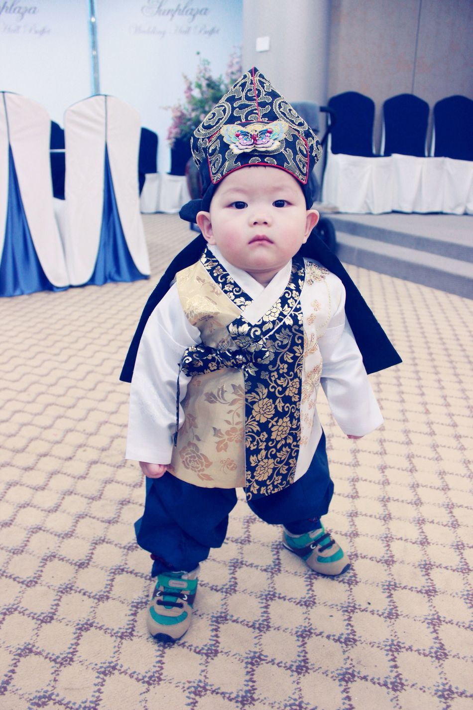 My Nephew Name Is Noah Happy First Birthday! Korean Hanbok Baby Boy Canon600D Canon Photography South Korea
