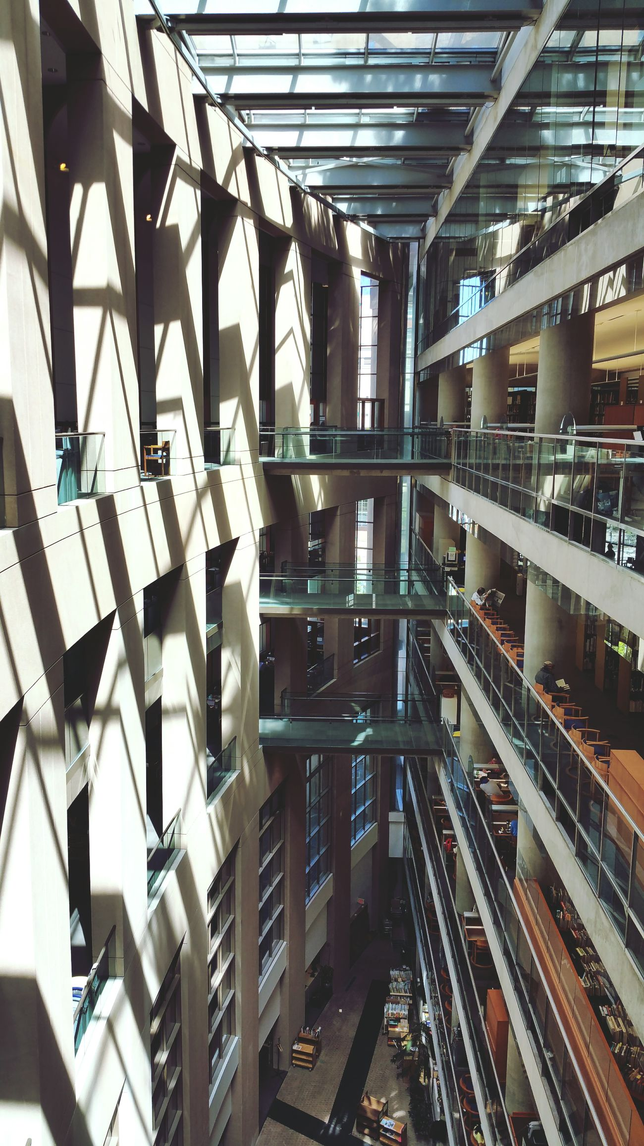 Studying can be pleasant too! Checking Out Books Library Architecture Shadows Building Urban Geometry Design Urban Architecture Studying Old Buildings