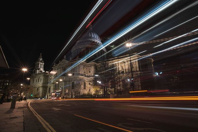 Holy Lights LDN London Cities At Night The Street Photographer - 2016 EyeEm Awards The Architect - 2016 EyeEm Awards Long Exposure St Paul's Cathedral Streetphotography London_only Cathedral Cityscapes City Life City Lights London After Dark London Bus Londonlife Great Britain Lovegreatbritain London Streets Nightphotography Night Lights LONDON❤ St Paul's Moving Traffic London Lights