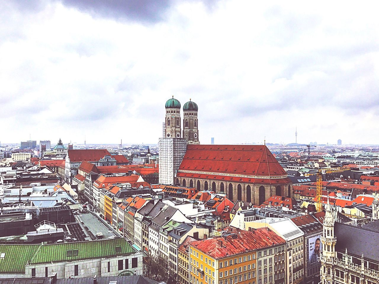 Architecture Building Exterior Built Structure Roof Day High Angle View Sky Cityscape No People Outdoors Cloud - Sky EyeEmNewHere Clear Sky Photography Enjoying Life Munich Travel Hello World Beautiful Streetphotography Taking Photos Love Landscape City
