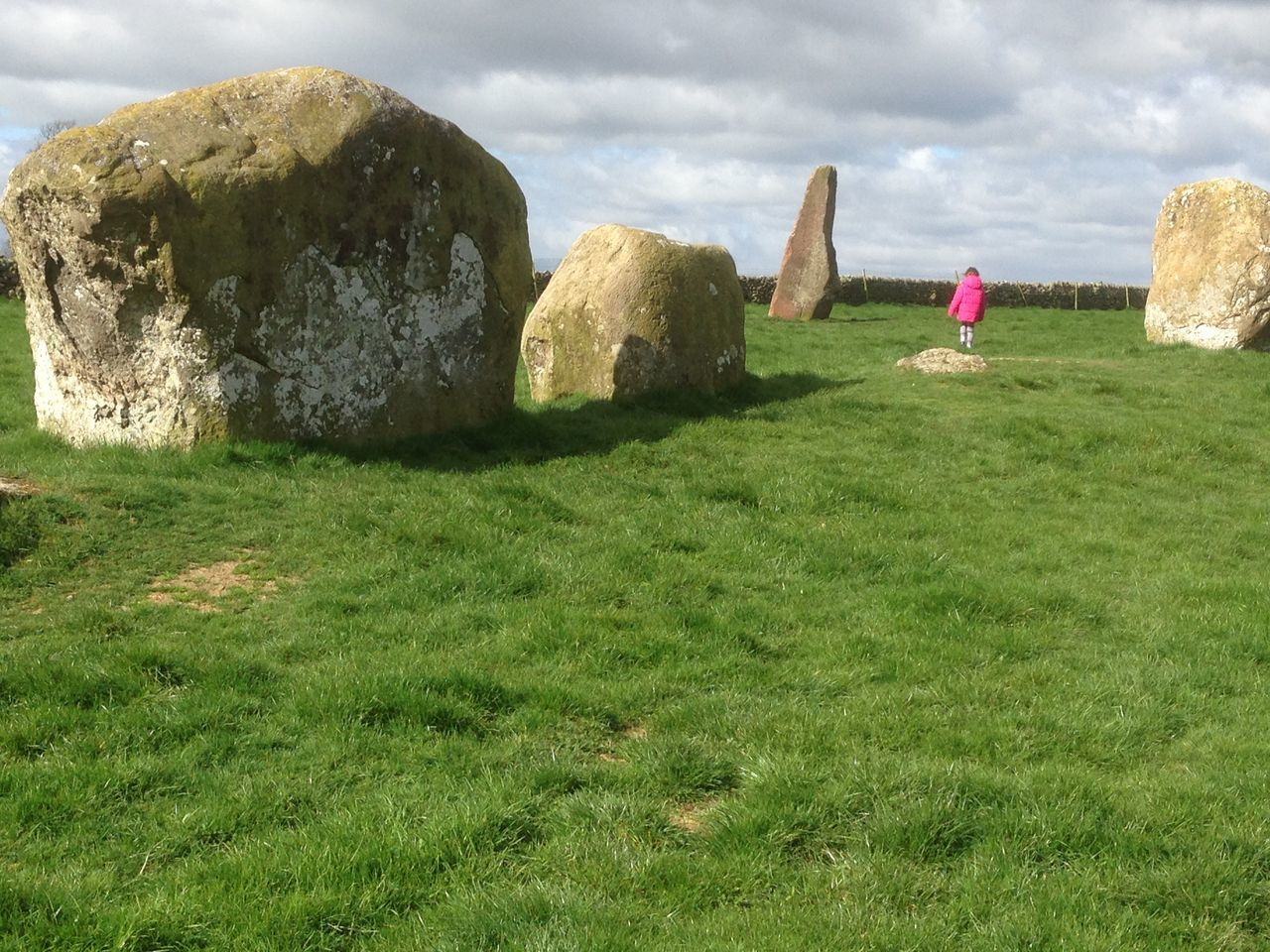 Field Grass Grassy Landscape Long Meg Outdoors Rock Standing Standing Stones Stone People And Places Ancient