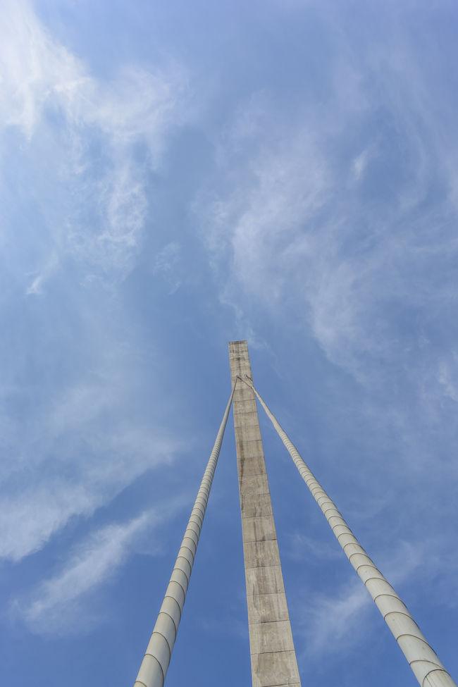 Puente de la Unidad (puente atirantado) Architecture Atmospheric Mood Cloud Cloud - Sky Cloudscape Composition Engineering Famous Place Modern Moody Sky Outdoors Sky