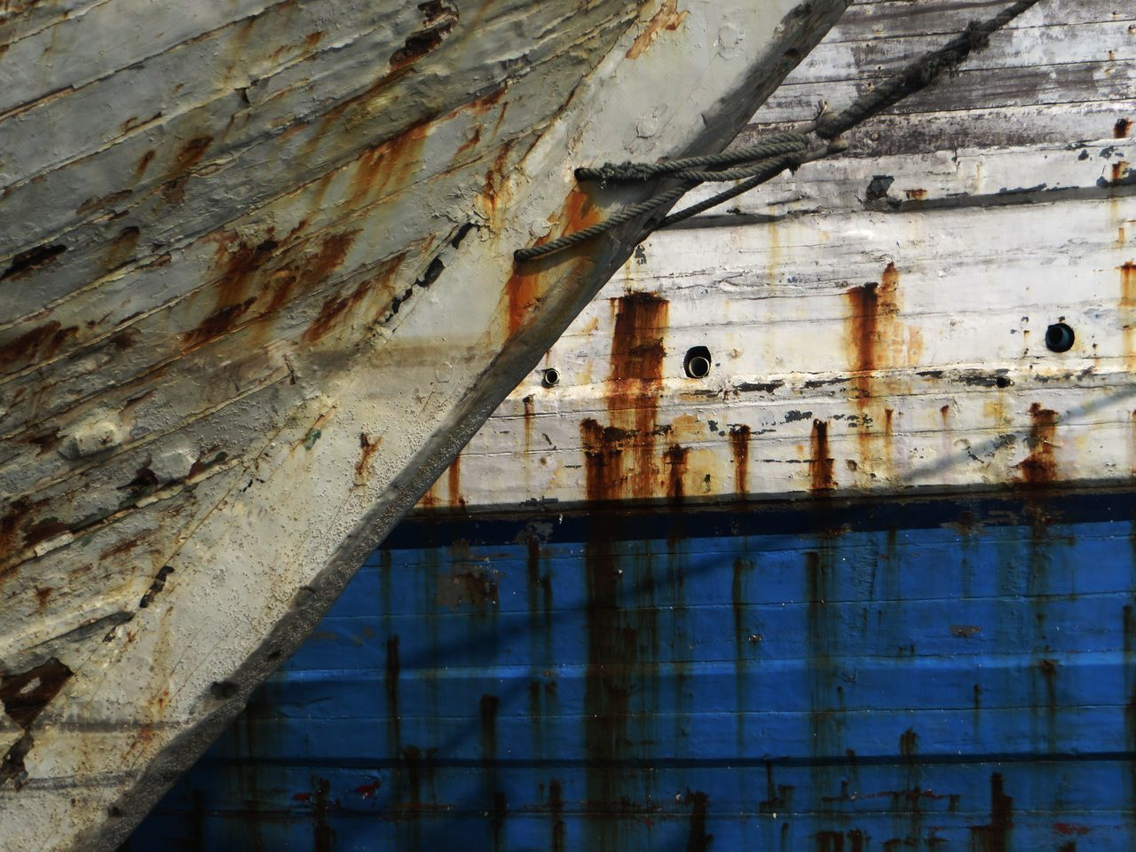Abandoned Architecture Building Exterior Built Structure Composite Image Composition Damaged Day Multicolor No People Outdoors Port Schip Water