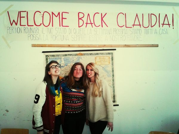 welcome claudia. miss you so much.