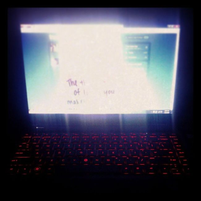 Laptop in action. Ahh....grabe lang...haha! BacklitKeyboard EpicLaptop HPDM4 BeatsLaptop Awesome InstaCool
