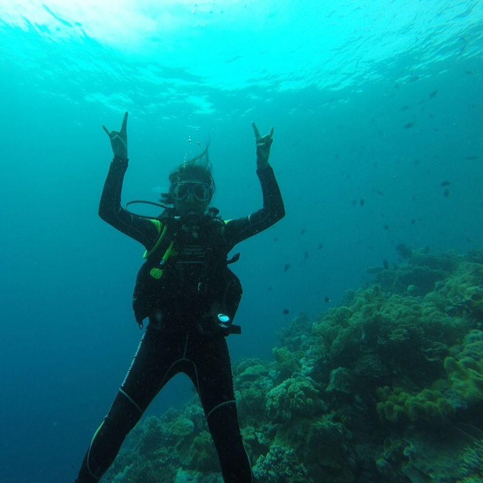 Underwater selfie :') Dive Scuba Diving Sea Underwater Wakatobi Paradise