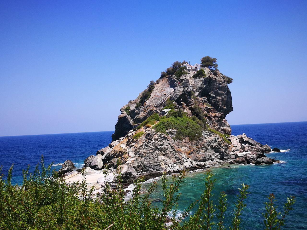 Mamma Mia Church Skopelos Greek Island Greek Islands Greek Summer Sea View Sea And Mountain Sea And Rocks Sporades Greece Summer2016