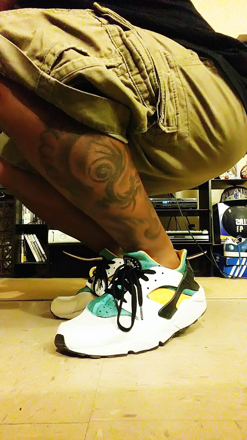 That's Me Colorful Brooklyn Tattoos Huarache Fashion Nike Nikeairhuarache. Legtattoos