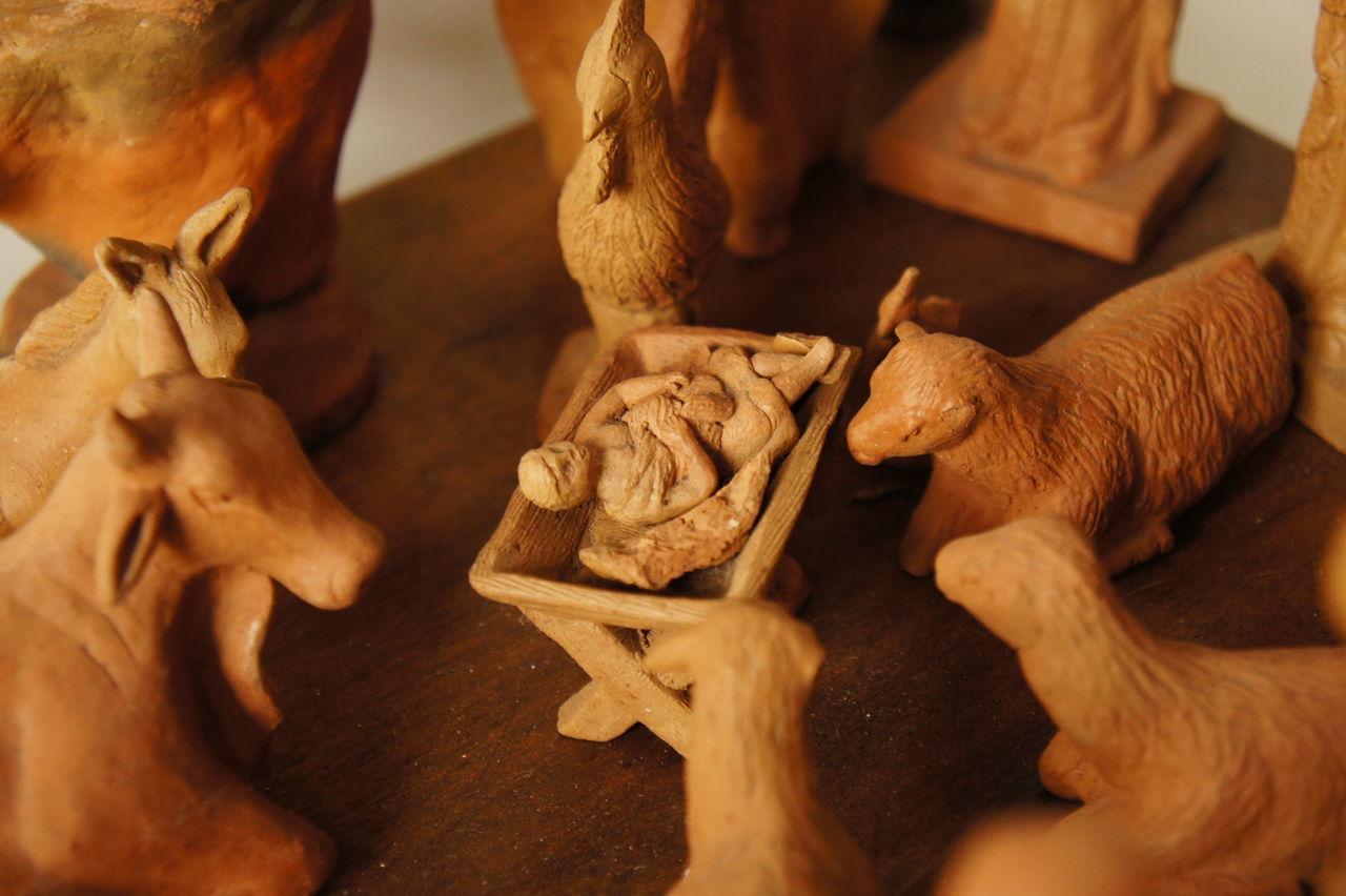 Animal Representation Argila Barro Criança Esculturas Jesus Menino Presépio Natal Toy Animal