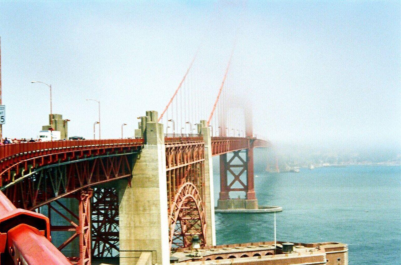 Architecture Bridge - Man Made Structure Suspension Bridge Outdoors Koduckgirl Film Film Photography Golden Gate Bridge Fog