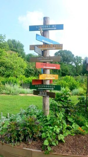 Chattanooga Tennessee Country Living Crabtree Farm Farm Life Garden Landscape Serenity Signs Tennessee This Way! Landscapes With WhiteWall
