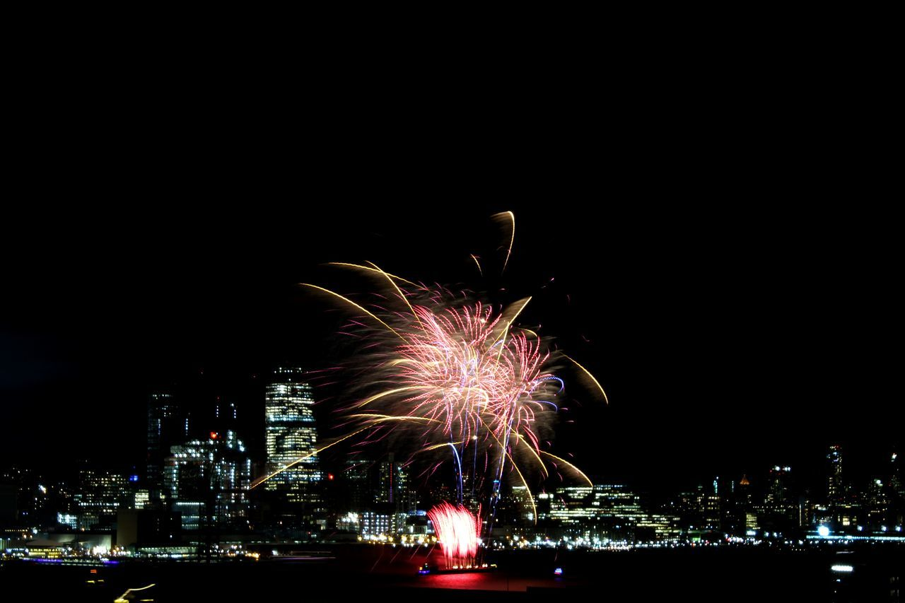 Chinese new year Exploding Celebration Firework Display Firework - Man Made Object Motion Night Sky Multi Colored Outdoors City Firework Illuminated No People NYC Photography City Empire State Building