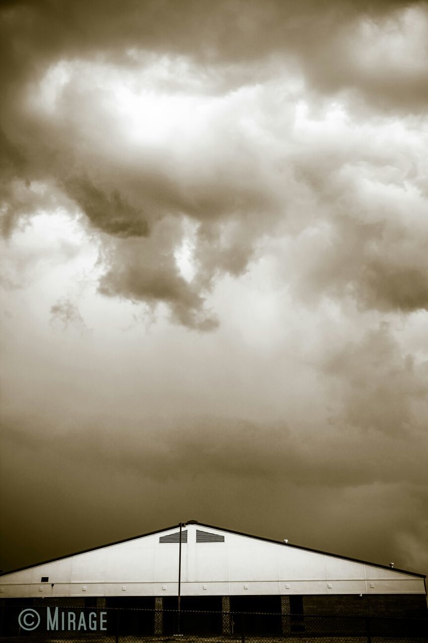 cloud - sky, sky, weather, architecture, no people, built structure, outdoors, low angle view, day, storm cloud, nature, building exterior, beauty in nature