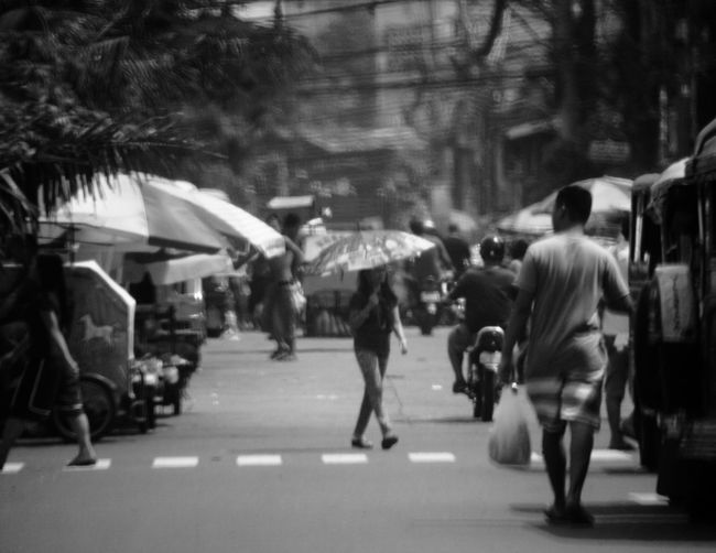 Street Road City Life Natural Light Candid Philippines Manila Street Photography Black And White Market Alt Lens 500mm Minolta Lenses Minolta Canon 5dmk2 Southeast Asia Filipino Pinoy Pinay Filipina Jeepney Umbrella