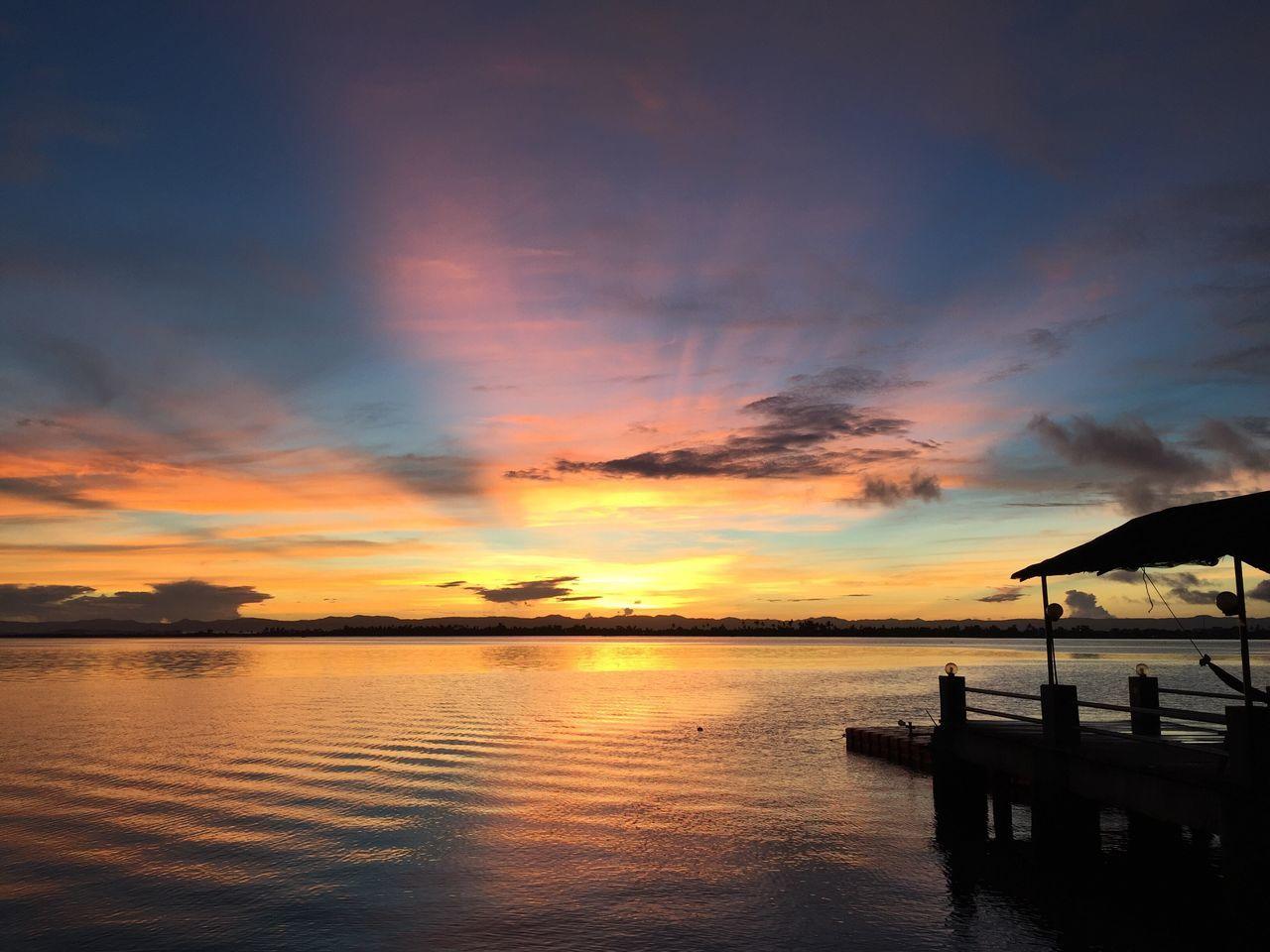June 23, 2016. Cancabato Bay sunrise. No filters, pure beauty. First Eyeem Photo
