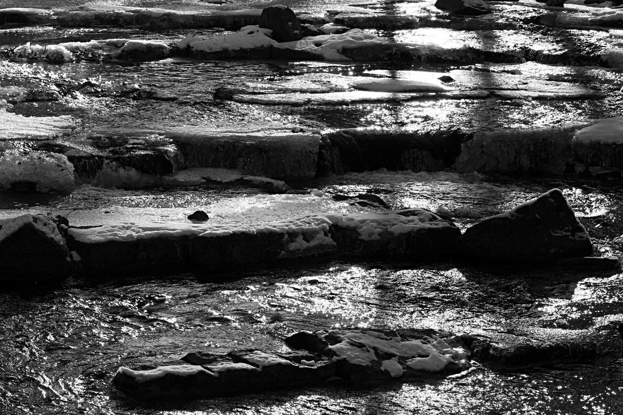 Beauty In Nature Blackandwhite Day Fleet Harz Ilsenburg Light And Shadow Nature No People Outdoors Reflections In The Water River Scenics Splashing Water Stream - Flowing Water Water