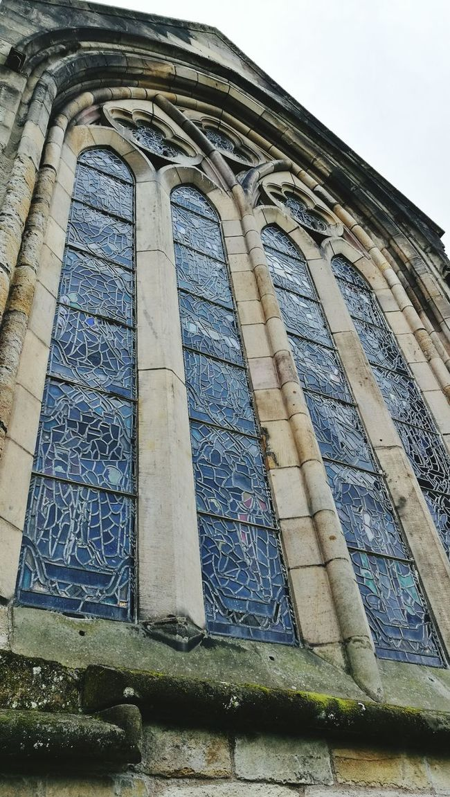 Low Angle View Architecture Building Exterior Pattern Stained Glass Window Bricks Window Cathedral