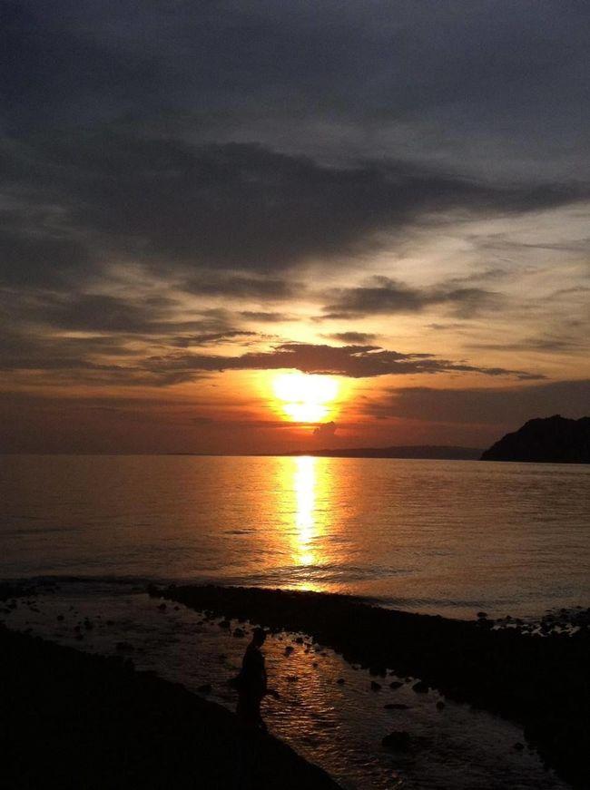 #philippines #province Beauty In Nature Calm Cloud Cloud - Sky Horizon Over Water Majestic Nature Orange Color Scenics Sea Seascape Shore Sky Sunset Water