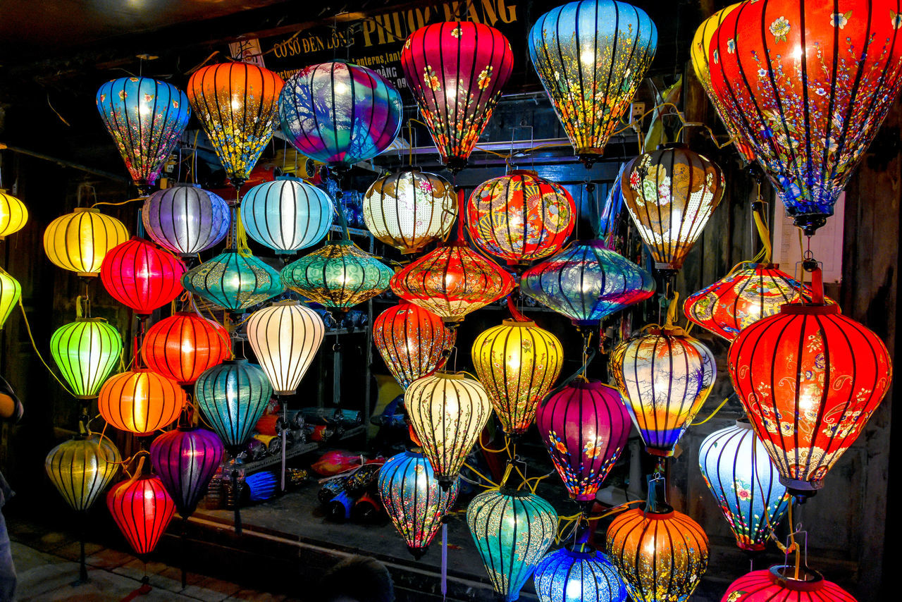 Illuminated Outdoors Vietnam Ancient City Hoi An village Art Crafts craftsmanship Lanterns Old Town Artist Craftsman Night Asian  Village Life Skilled Craftsmen Night Scape Lantern Maker Lantern Festival Vietnamese