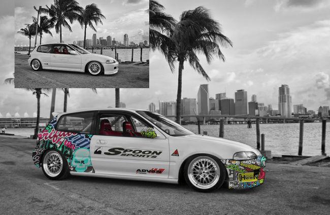 Hondacivic Sticker Bomb JDM Cars Photoshop