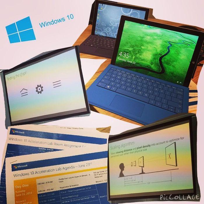 到了ㄧ個用Mac會被瞪的地方 : Windows 10 acceleration lab PicCollage  SurfacePro3 Design Windows10