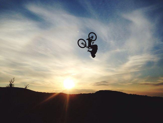 Sky Sunset Sun Silhouette Cloud - Sky Low Angle View Outdoors Nature MTB MTB Biking Bikepark